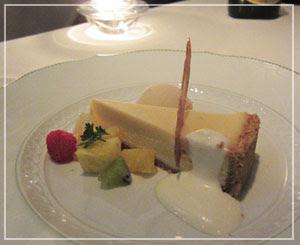 「ジャッジョーロ銀座」にて、名物、濃厚チーズケーキ