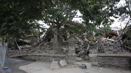 ESCOMBROS. Vista de una casa destruida en la calle Durham. (EFE)