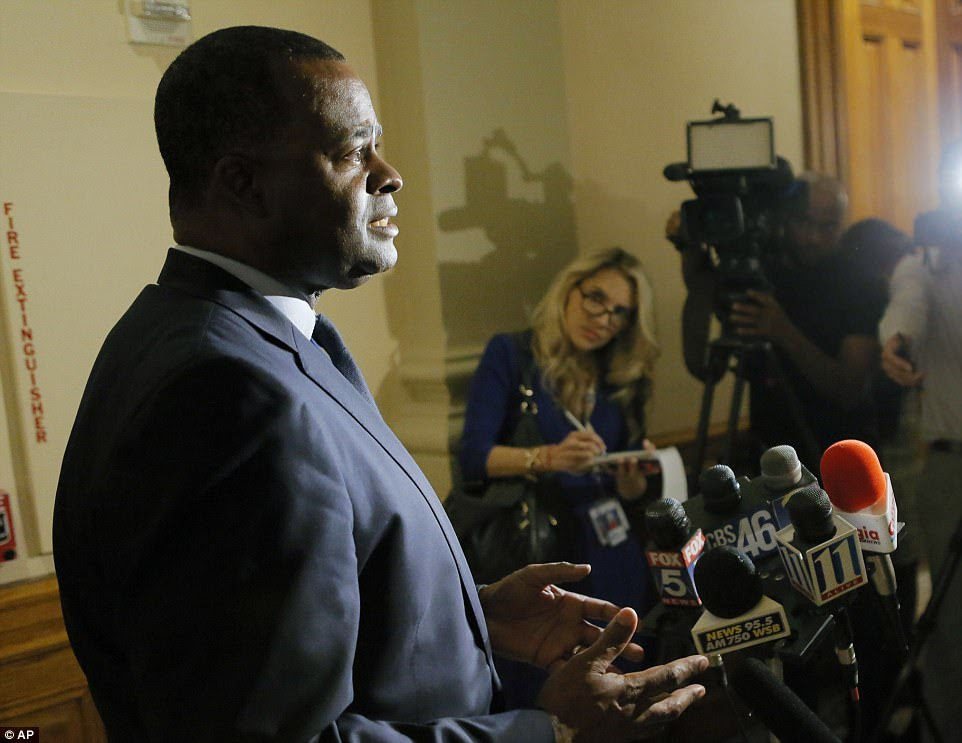 Mayor Kasim Reed (pictured) addressed the situation Thursday evening. He said: 'This is about as serious a transportation crisis as we can imagine'