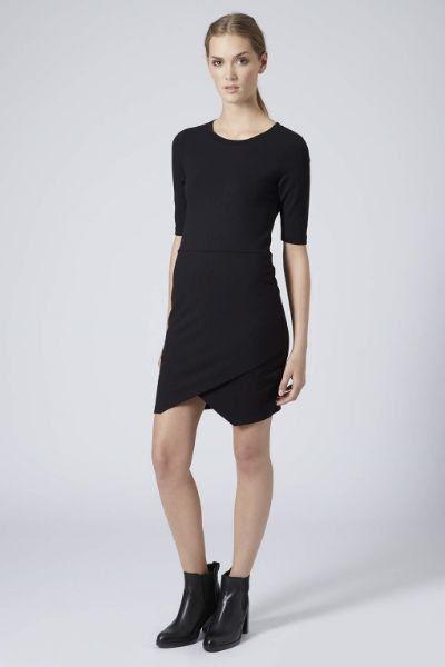 Topshop Jersey Wrap Bodycon Dress