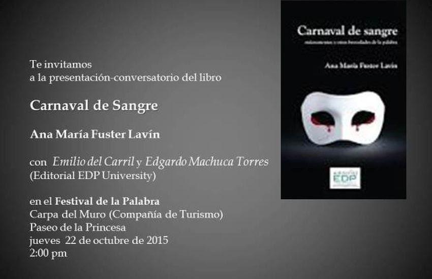 """Carnaval de sangre"", de Ana María Fuster Lavín"