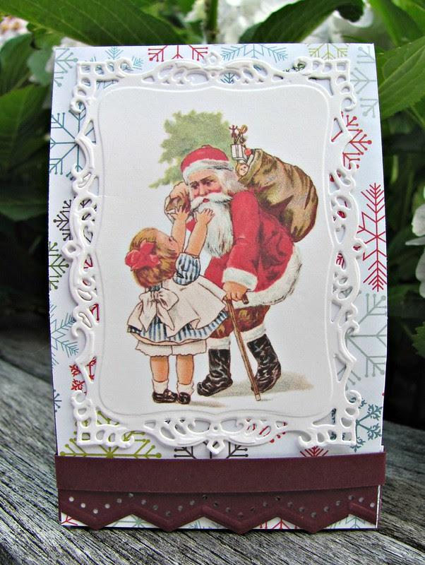 Vintage Santa gift box