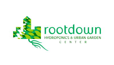 Hydroponics & Urban Garden Center selling all products related to gardening indoors logo design