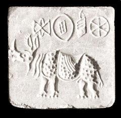 36. Rhino - Steatite Seal, Indus Valley, 2700-1500 BCE