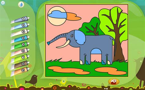 elephant coloring page printables apps  kids