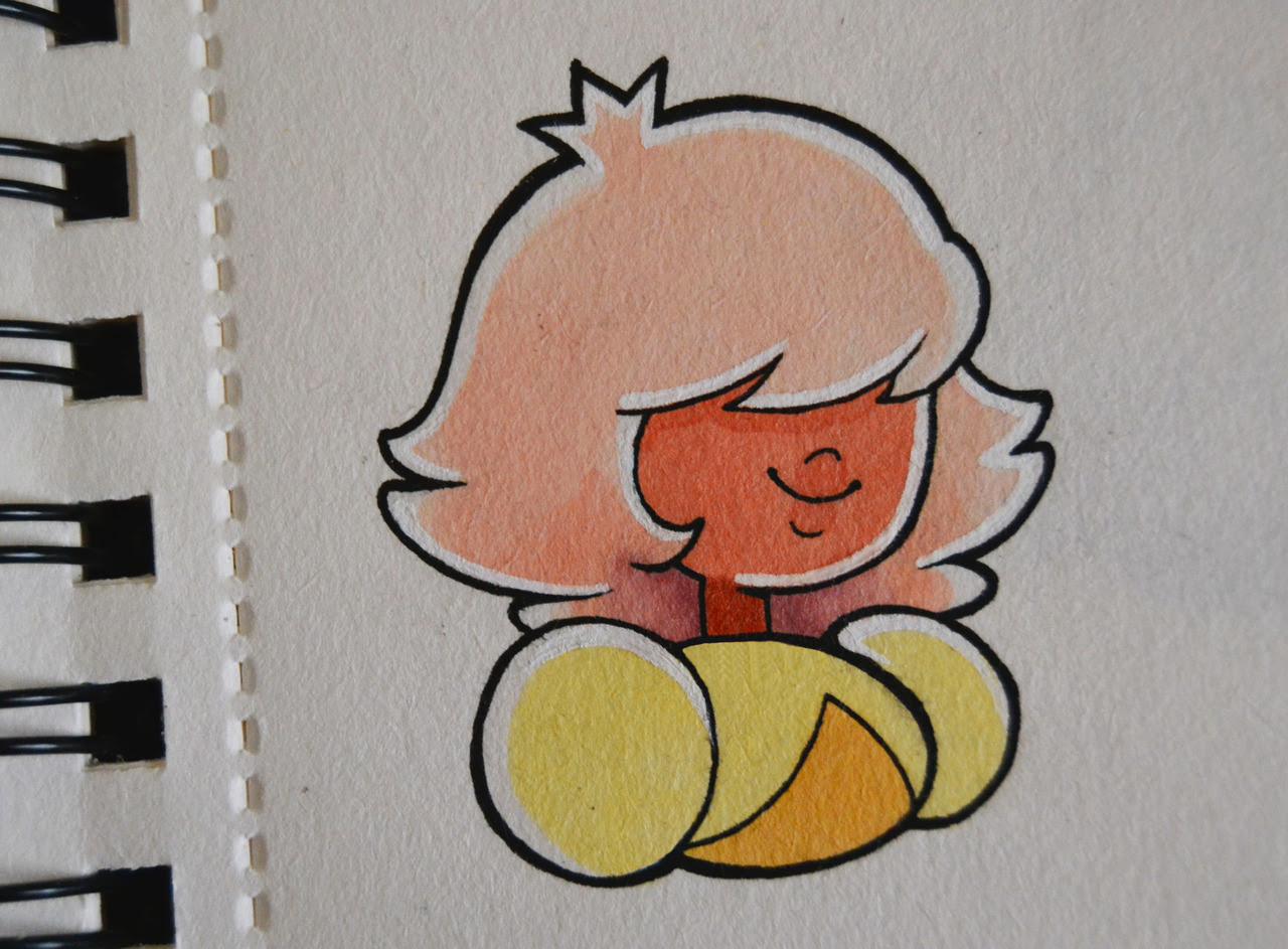 Some off colors! Rhodonite and padparadscha! :D Drawing by some copics and promarkers i hope you like it! Follow me on twitter!
