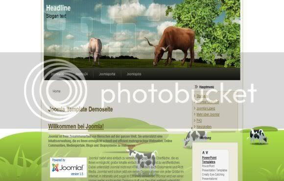 Joomla Cow Farm Green Web2.0 Theme Template