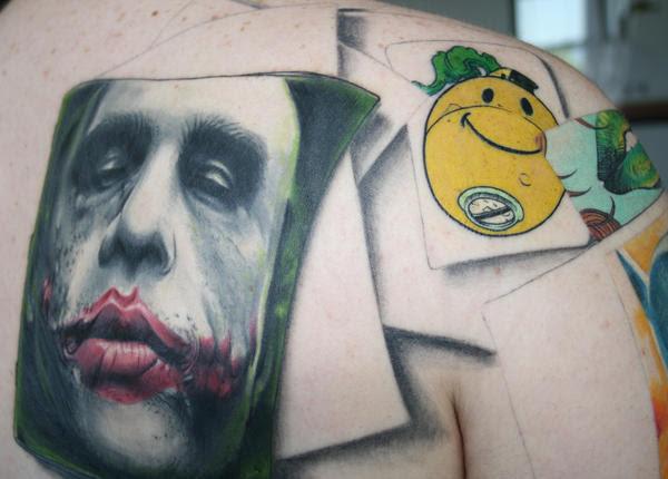 the joker tattoo cont. by ~carlyshephard on deviantART