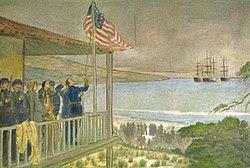 Alzabandiera dopo la conquista di Monterey