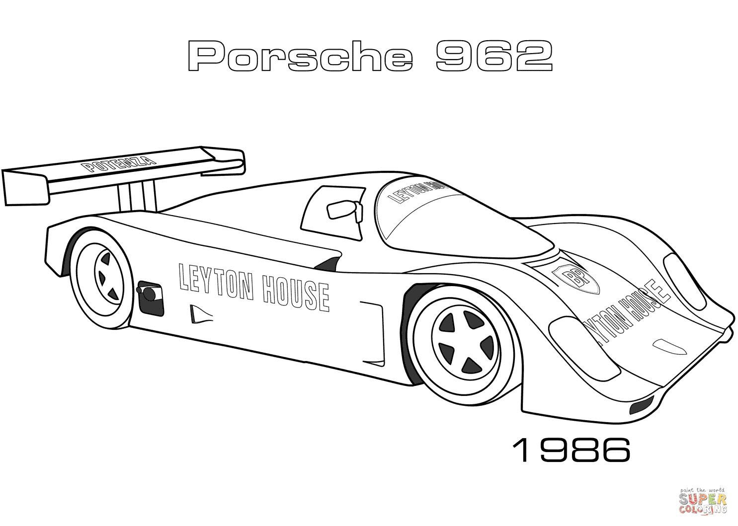 Coloriage De Voiture De Porsche