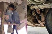 Menyusul Orangtua, Dua Bocah Nekat 3 Jam Menggantung di Kolong Bus