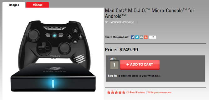 Mad Catz M.O.J.O Game Console Now Available From Multiple Retailers, Including GameStop, Newegg, And TigerDirect