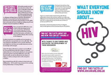 hiv awareness materials national aids trust nat