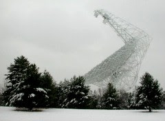 Green Bank Telescope in snow