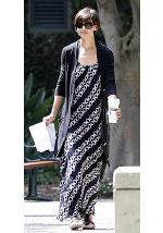 Katie Holmes wearing Vince maxi dress