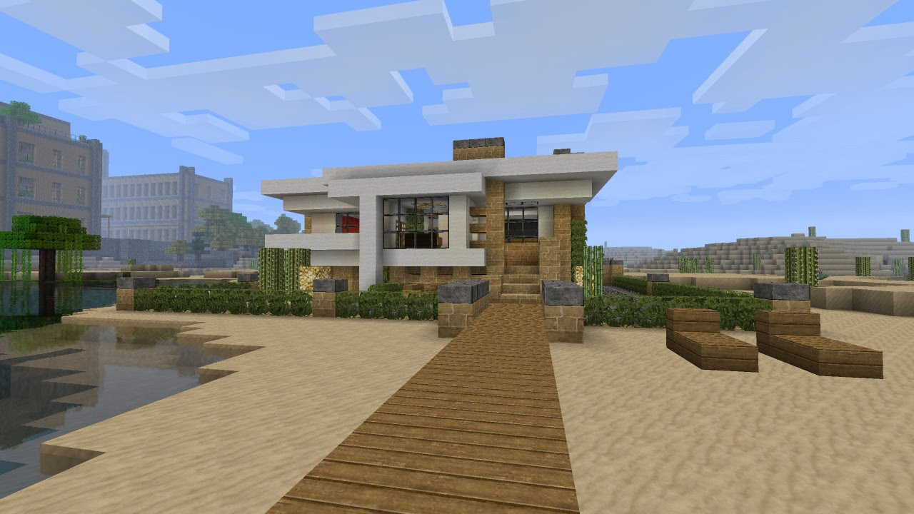 Modern House Tutorial - Beach Town Project Minecraft Project
