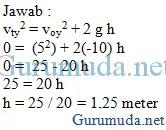 Contoh soal gerak parabola 4