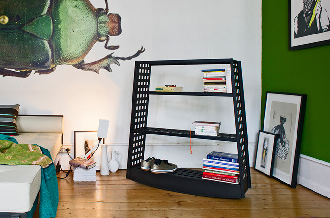 Minimalist Topple Rocking Shelf | DigsDigs
