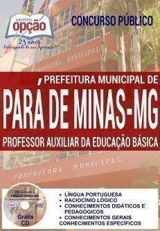 apostila PROFESSOR AUXILIAR DA EDUCAÇÃO BÁSICA