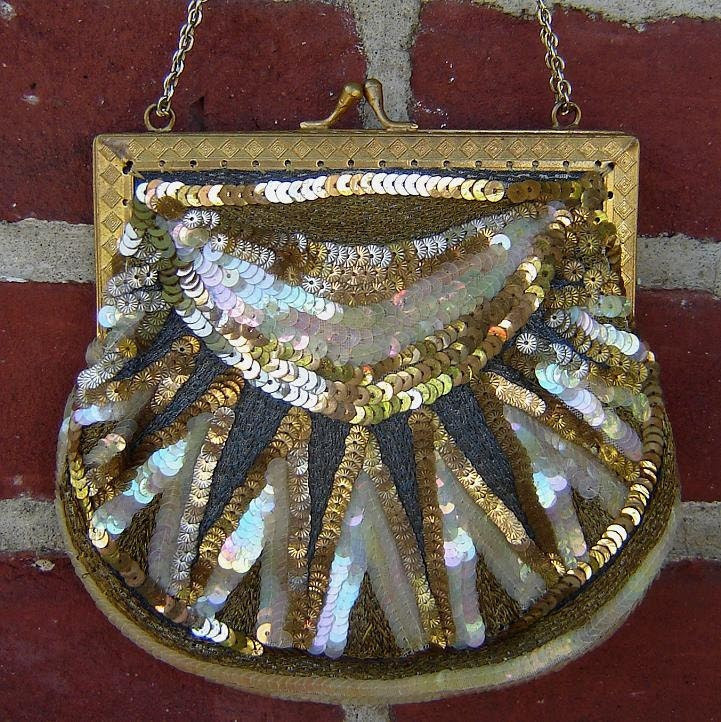 early 1920's art deco beaded handbag - charity for animals