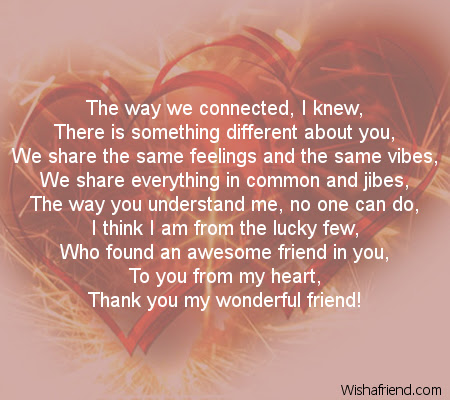 You Are The One Poem For Best Friends