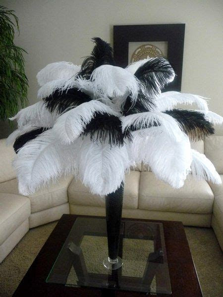 ideas  ostrich feather centerpieces