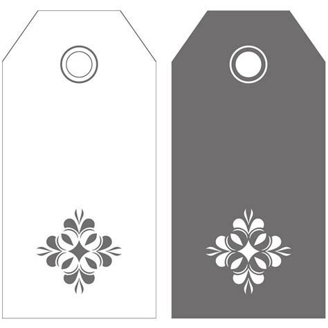 20 Grey & White Flower Gift Tags In 2 Designs   Pipii
