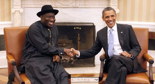 Goodluck Jonathan and obama