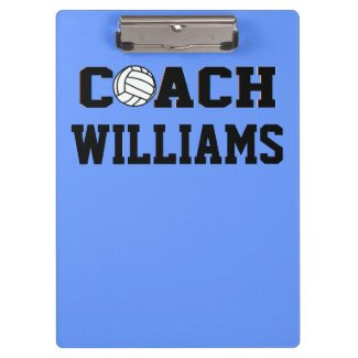 Coach - Volleyball- Personalized Clipboard