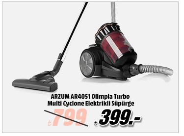 ARZUM AR4051 Olimpia Turbo Multi Cyclone Elektrikli Süpürge 399TL