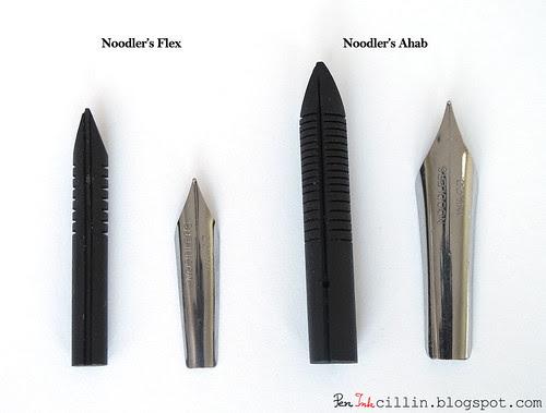Noodler's Ahab vs flex nib+feed top