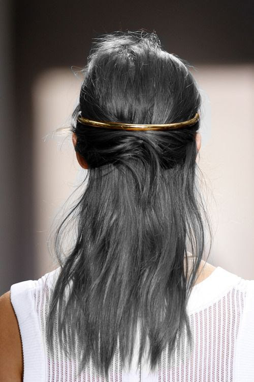 metallic hair piece