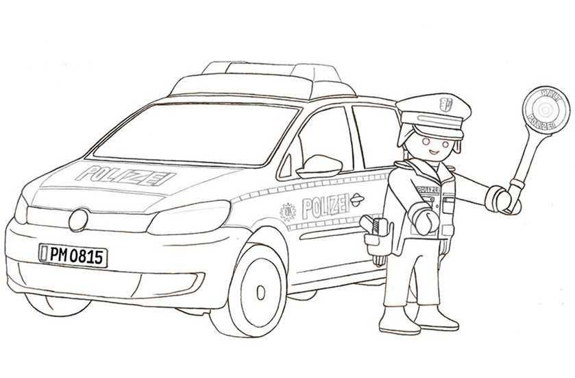 ausmalbilder polizei ausdrucken - Ausmalbilder