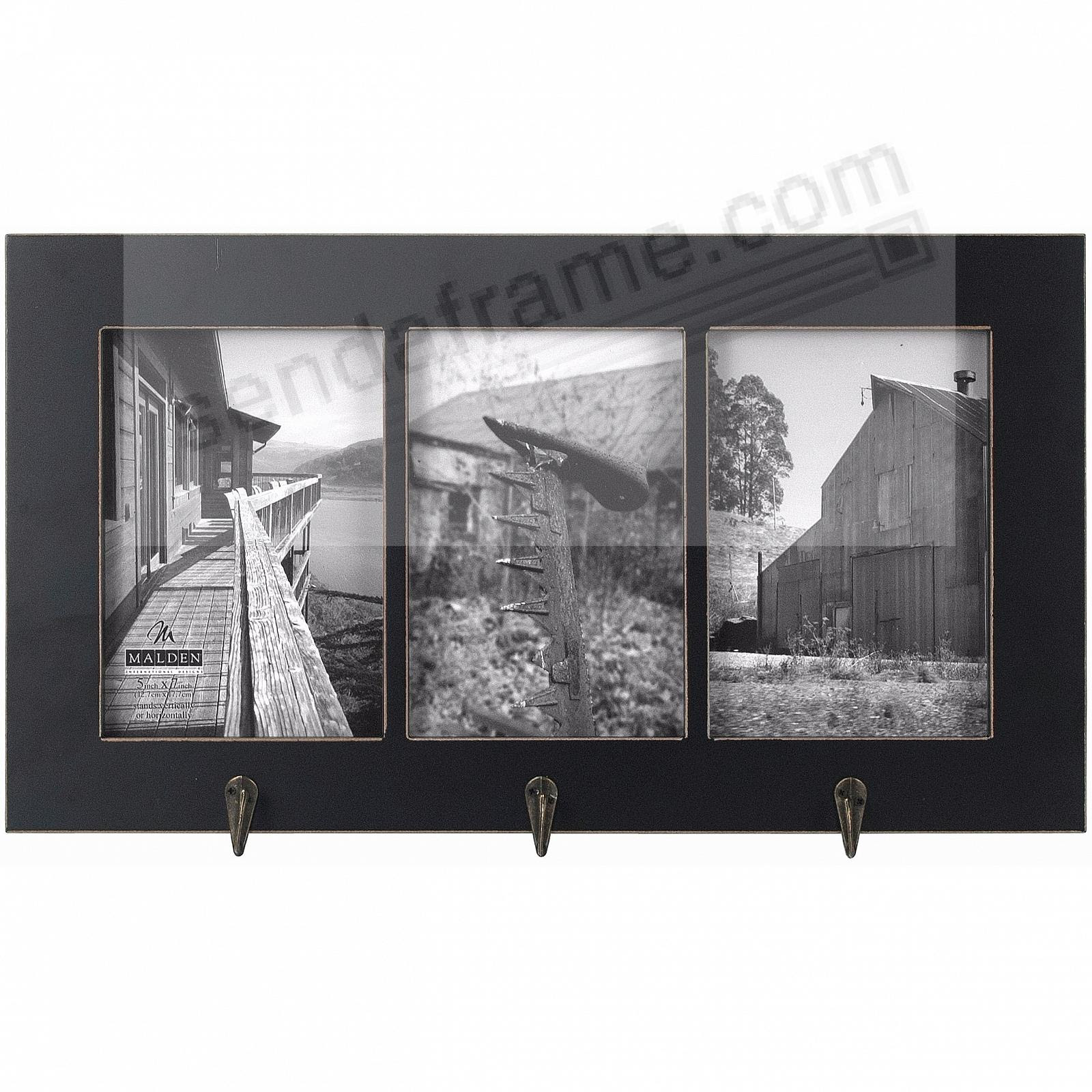 Barnside Black Hanger Triple Displays 3 5x7 Photos By Malden