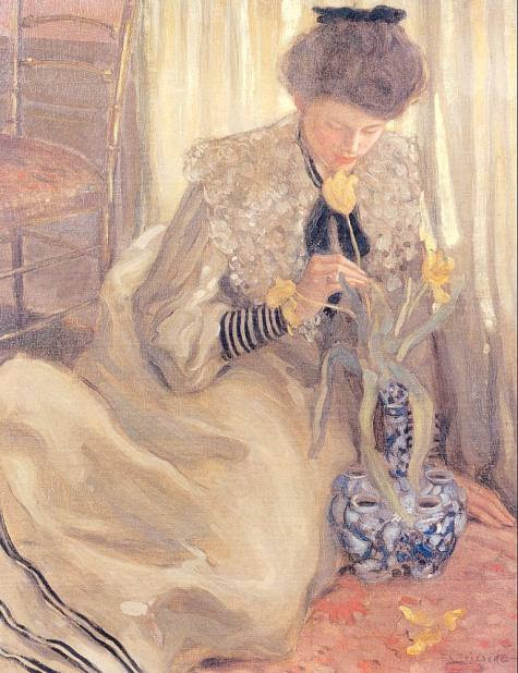 Frederick Frieseke, The Yellow Tulip