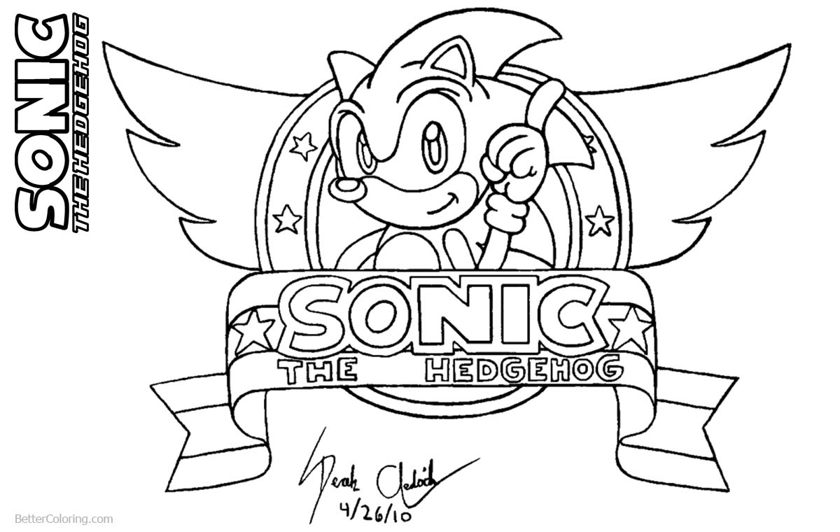 Sonic The Hedgehog Coloring Pages by derek the hedgehog87 ...