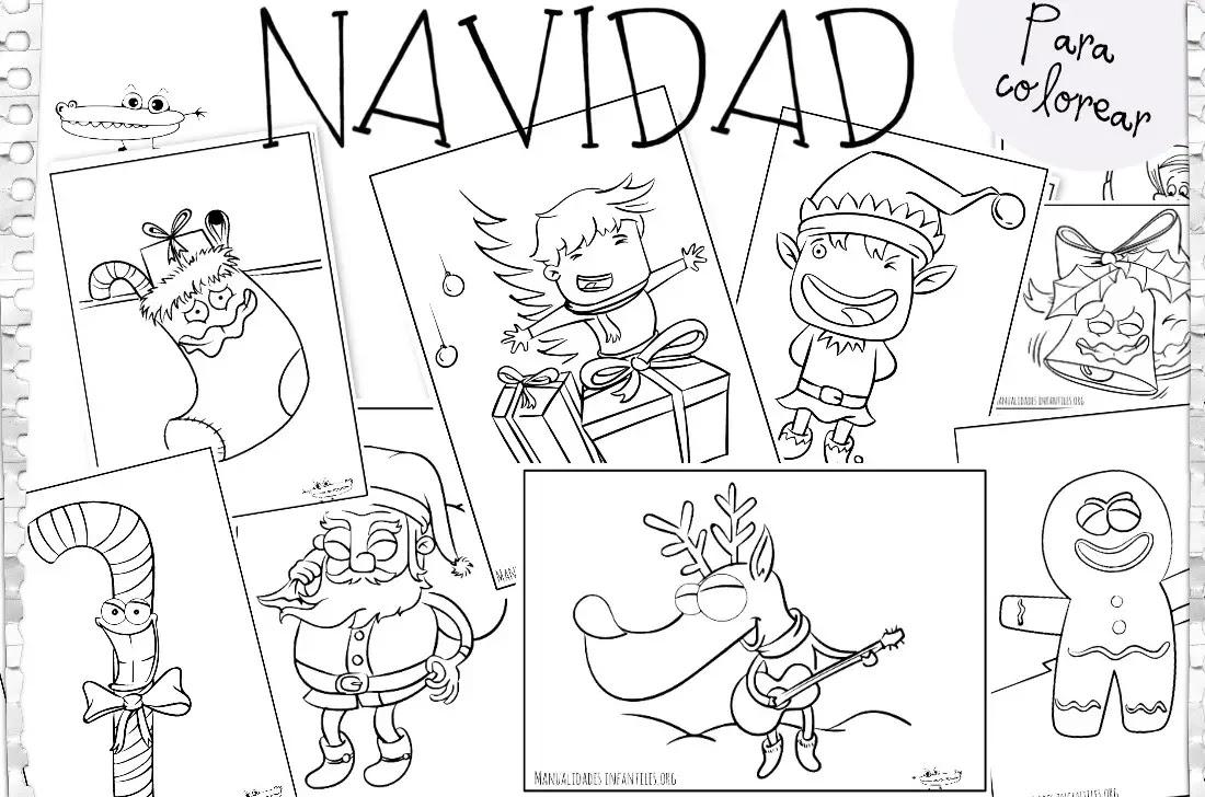Dibujos De Navidad Actividades Para Ninos Manualidades Faciles Y