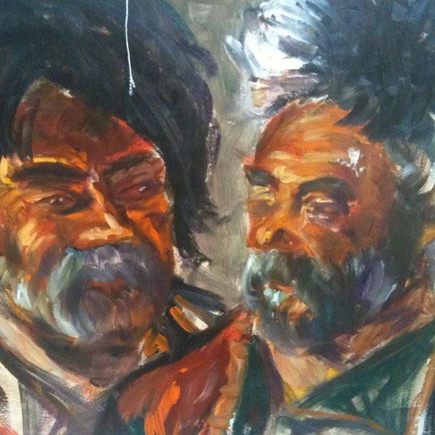 Khevsur painting by Natenadze