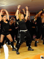 Madonna during the exclusive dance class at the Hard Candy Fitness center, Mexico 04