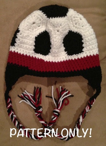 Soccer Ball Hat Crochet PATTERN
