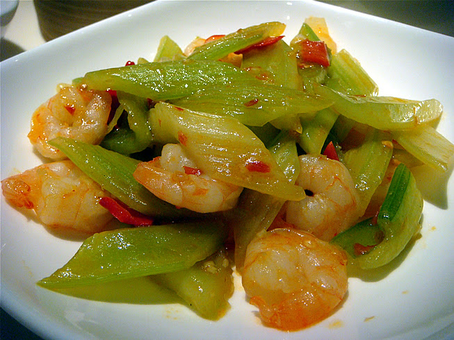 Celery with Prawns