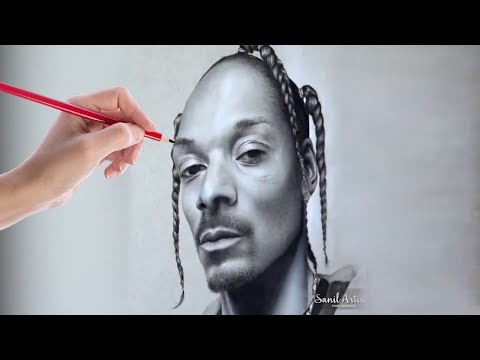 HYPERREALISTIC SNOOP DOGG DRAWING ! Creative Artist Artworks You Wonder How Do They Do It So Easily