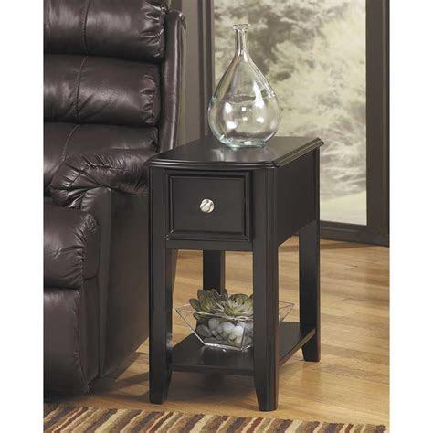 breegin black chairside  table    ashley