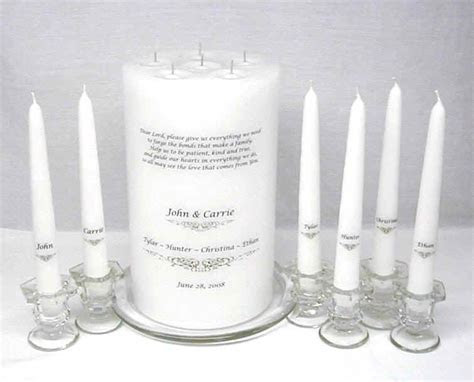 Group unity candle for joining families   I Do [Wedding
