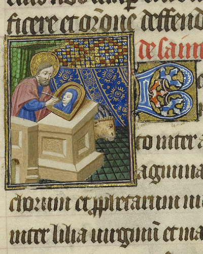 Saint Luke Painting the Virgin / Bedford Master
