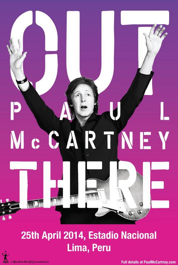 PAUL MCCARTNEY EN LIMA 25 DE ABRIL
