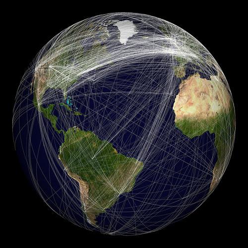 Conexiones de redes sociales en el mundo 2009