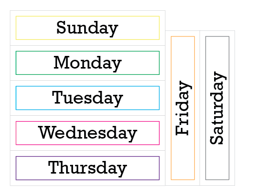 Number Names Worksheets : days of the week print out ~ Free ...