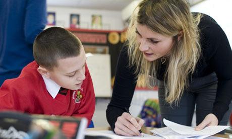 A teacher and pupil