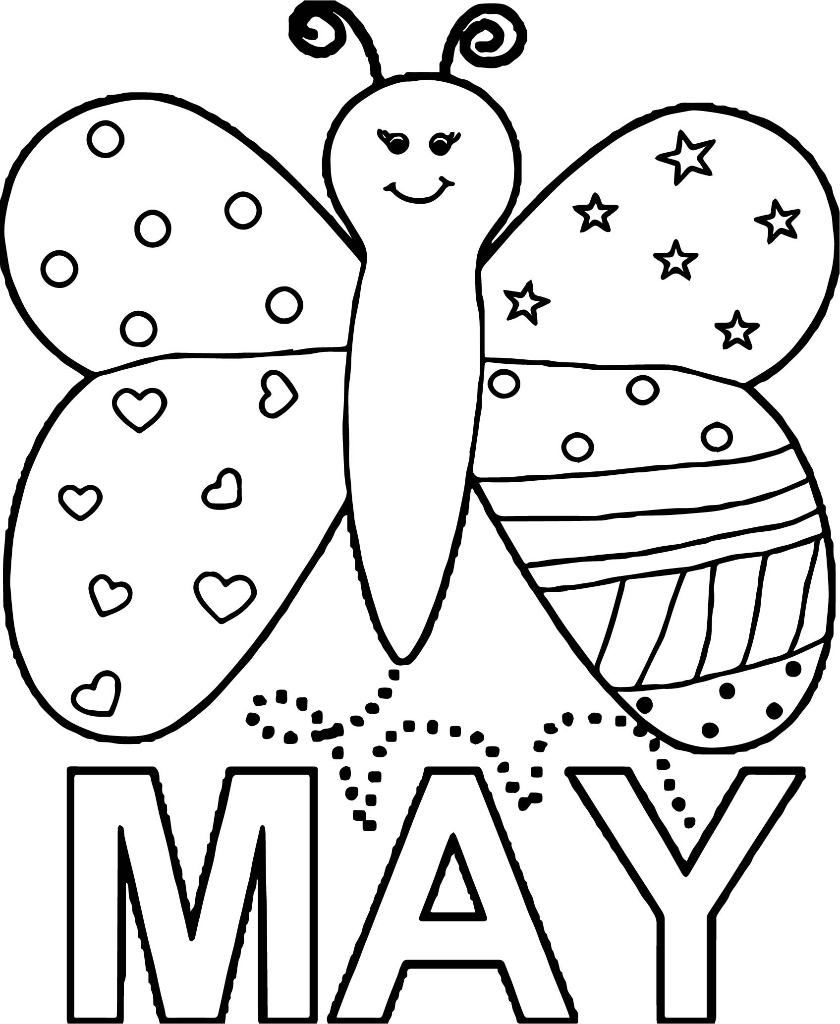 Coloring Pages for the month of May {Free Printable} | Coloring ... | 2066x1695